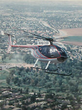 PHOTO DE PRESSE MCDONNELL DOUGLAS MD 500E HELICOPTER HELICOPTERE HUBSCHRAUBER