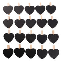20PCS Black Board Chalkboard Clips Note Paper Pegs for Home Office Decoration