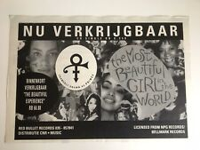 PRINCE MOST BEAUTIFUL GIRL IN THE WORLD 1994 DUTCH PROMO ADVERT NPG CNR