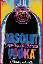 Andy Warhol absolut  vodka classic Canvas wall pop art  20 x 30 Inch A1 large