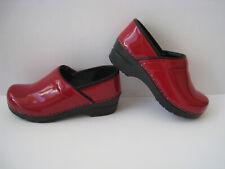 SANITA PROFESSIONAL RED PATENT LEATHER  CLOGS WOMEN SIZE US 5.5 - 6  EUR 36 NICE