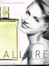 Publicité advertising 1998 Parfum Allure par Chanel