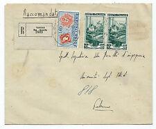 STORIA POSTALE 1951 REPUBBLICA 60+2 VALORI 10 LIRE SU RACCOMANDATA TORINO D/8188