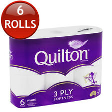 QUILTON TOILET PAPER TISSUE ROLLS SOFT SANITARY 3 PLY 180 SHEETS 6/12/18/24/30