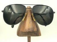 Vintage Metzler 7950 247 Dark Gray Metal Aviator Pilot Sunglasses FRAMES ONLY