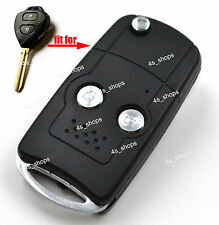 2 Buttons Flip Key Case Housing Replacement Shell For Toyota Prado Tarago Camry