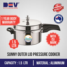 1.5 Ltrs Sunny Outer Lid 1.5 Liters Aluminium small Pressure Cooker 1.5 L