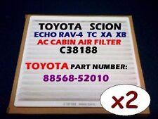 x2 TOYOTA Echo Rav-4 SCION xA xB tC AC CABIN AIR FILTER + Free Fast Shipping @_@