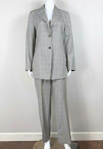 AKRIS 2pc. Suit Set Blazer & Pants Size 10 Wool & Silk Lightweight - NTSF