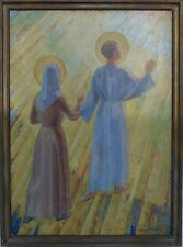 Artista & gtbirgitte West-santa imagen-óleo 1. mitad 20.jh. 115,5x86 cm