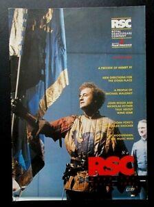 RSC Royal Shakespeare Company magazine, Spring 1991 No. 3 John Wood Pam Gems