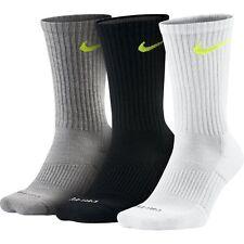 Nike Dri-Fit Half Cushioned Crew Socks 3 Pair Multi SX4827-979 Sz M 6-8