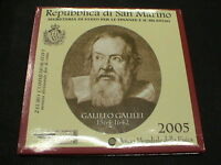 San Marino 2005 moneta 2 euro commemorativo Galileo Galilei in official folder