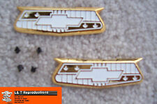 1955 1956 Chevy Gold Crest Emblems Quarter Panel New USA Made Belair Sedan Htp