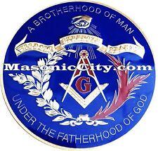 Z-134 Brotherhood Under GOD Masonic Auto Emblem FreeMasonry Car Lodge Mason PHA