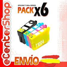 6 Cartuchos T1001 T1002 T1003 T1004 NON-OEM Epson Stylus SX600FW