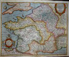 1624 (1594) Ortelius Map France Of Julius Caesar'S Time Gaul of the Roman Empire