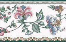 Vining Jacobean Tulip Wallpaper Border