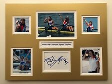"Rowing Katherine Grainger Signed 16"" X 12"" Double Mounted Display"