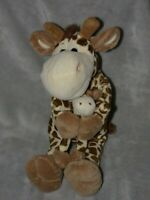TESCO BROWN GIRAFFE SOFT TOY BROWN COMFORTER MUMMY AND ME DOUDOU