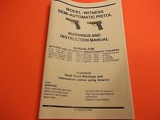 EAA WITNESS (and Witness P) PISTOL INSTRUCTIONS MANUAL
