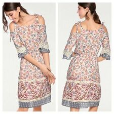 Tesini @ Heine Size 16 18 Floral Cold Shoulder Summer DRESS Holiday £90 Broderie