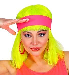 80er Jahre Neon Stirnband 80`s Trash Kostüm-Zubehör Aerobic Gymnastik Sport