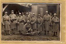 Cpa Carte Photo 1923 Militaire 134e RI Infanterie de Mâcon Clairon m085