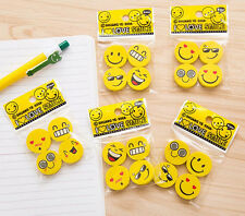 Wholesale 12Pcs Funny Emoji Rubber Pencil Eraser Students Stationery Toy Gift