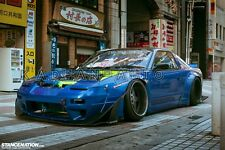 FRP ROCKET BUNNY WIDE-BODY AERO STYLE FRONT AND REAR FENDER FOR NISSAN 180SX