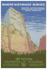 1938 Lassen Volcanic National Park WPA Vintage Style Travel Poster 20x28