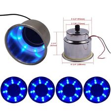4Pcs Blue LED Built-in Stainless Steel Cup Drink Holder For Marine Boat Truck RV