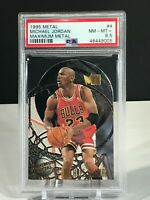 1995-96 Fleer Metal Maximum Metal Michael Jordan Insert #4 PSA MINT 8.5 DIE CUT