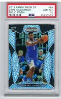 RARE 40/49 Panini 2019 ZION WILLIAMSON #64 SILVER MOJO PRIZM RC PSA 10 Low Pop