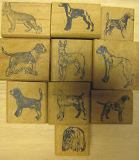Lot of 10 dog rubber stamps Beagle Shepherd Airedale and more