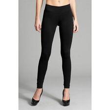Women's Solid Black Leggings Yoga Pants One Size