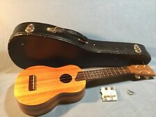 Vintage Soprano Kamaka White Label Ukulele 1968-1978 With Hard Case & Pitch Pipe