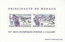 Monaco Bl. 38** (1855-1856**) Olympia / Olympic Games 1988 in Calgary