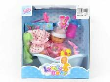 Mini baby doll and bath toy with accessories, free postage & packaging