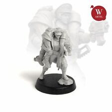 """28mm wargame and collectible miniature, Commissar Raivel by """"W"""" Artel"""