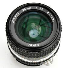 Nikon Nikkor 28mm f/2.8 AIS sp'r sh'p Mn'l Focus Lens. Exc++++. Tst'd see Images
