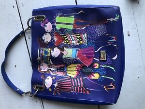 Love Moschino Handbag Bag Tote Blue Colourful Fashion Girls