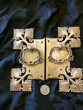 Vintage Set Drawer Pulls Solid Brass Circa 1940