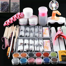 Acrylic Nail Kit Acrylic Powder Glitter Nail Art Manicure Tool Tips Brush Set