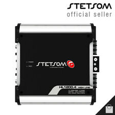 Stetsom Hl 1200.4 1 Ohm 4 Channel Amplifier 1200 Compact Car Amp - Usa Shipping