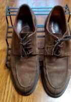 Johnston Murphy 20 7369 Brown Suede Stitched Casual Oxfords Mens 8.5 Italy