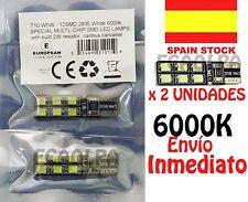 BOMBILLA LED HOMOLOGADA CANBUS T10 W5W 12 SMD 2835 BLANCO 6000K COCHE MOTO  5630