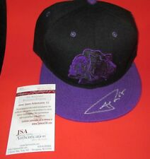 Autograph Andrew Shaw #65 Blackhawks Signed Hat Purple Skll COA