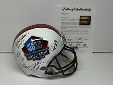 Marino Moon Haynes Lofton Dickerson Kelly Wehril +4 Signed F/S HOF Helmet PSA