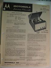 Service Manual Original  Motorola 57RF1 Home Radio, Record Player in Canada